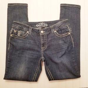 Paisley Sky Denim Skinny Jeans Medium Wash Size 12